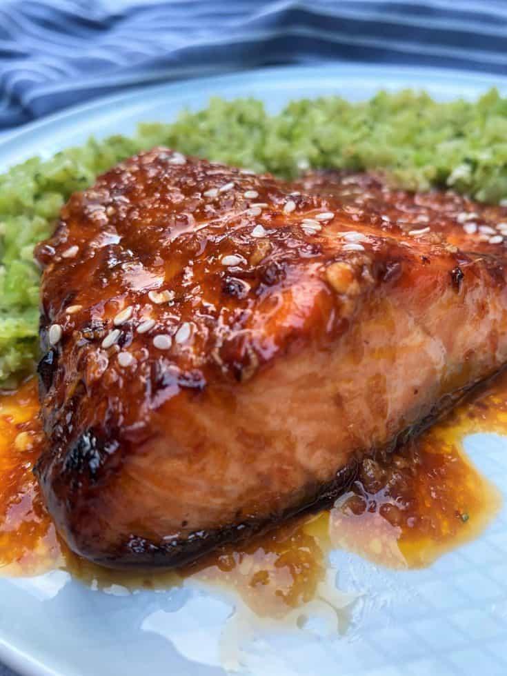 Keto Spicy Soy Salmon