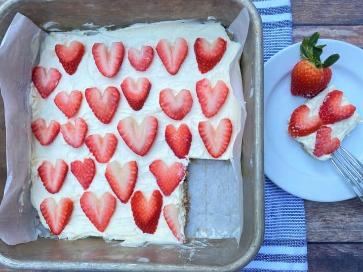 Strawberry Cheesecake Bars (Low Carb & Keto)