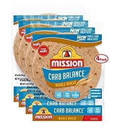 Mission, Carb Balance, Whole Wheat Fajita Tortillas