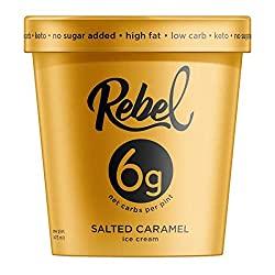 Rebel Ice Cream - Low Carb, Keto - Salted Caramel
