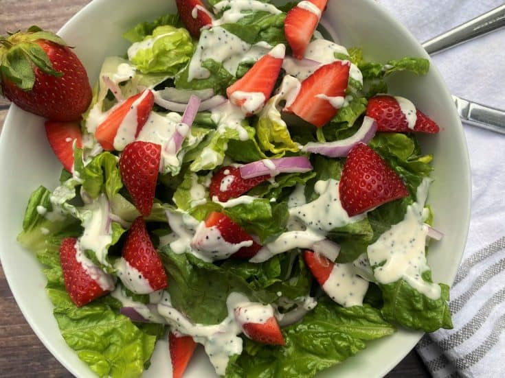 Strawberry Salad with Poppy Seed Dressing  (Low Carb / Keto)
