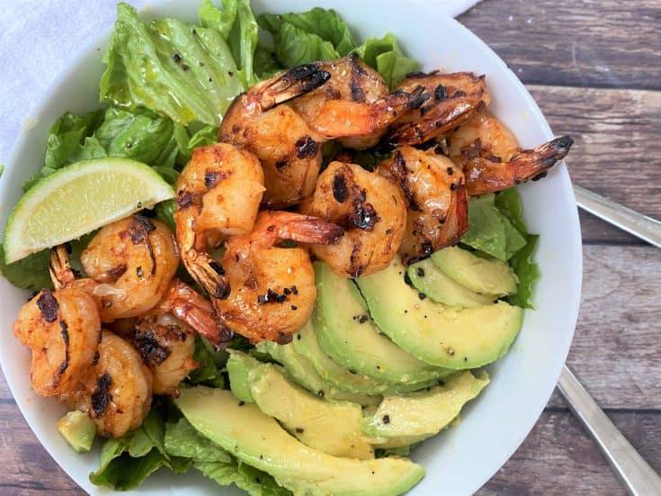 Grilled Chipotle Lime Shrimp Salad