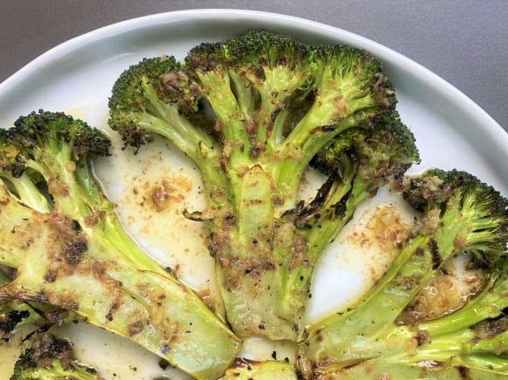 Grilled Broccoli Steaks with Bagna Cauda