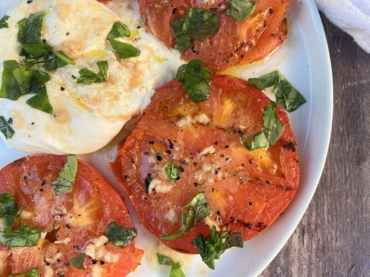 Grilled Tomatoes with Burrata Cheese