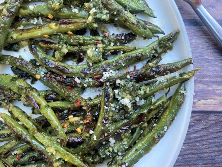 Blistered Green Beans With Pesto