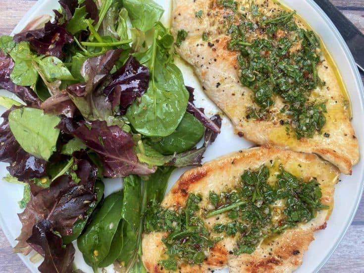 Chimichurri Chicken Cutlets (High-Protein / Keto)